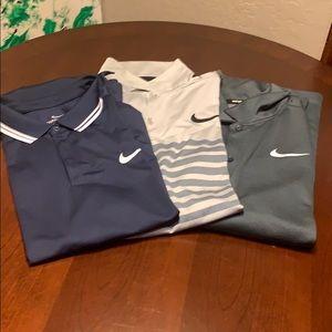 Nike golf shirts 3 in quantity.